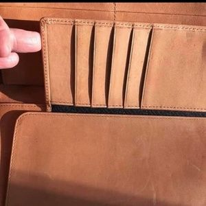 Imogene Will Leather Goods Checkbook Wallet/Clutch